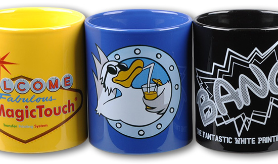 heat transfer coloured mugs